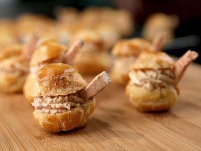 Gevulde soesjes met foie gras