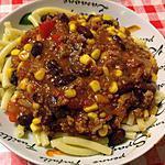 Pasta met Chili con Carne