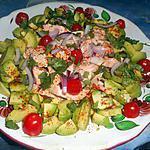 Avocado-salade met zalm