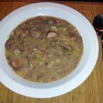 Konijn uit de oven met aardappelen en spek