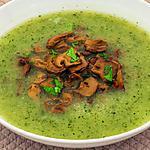 Courgettesoep met champignons