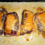 Kalfsschnitzel met ham en kaas