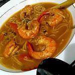 Thaise soep met garnalen