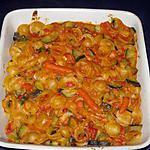 Gegratineerde pasta met groenten en spekjes