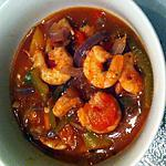 Tomaten paprika soep met garnalen