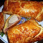 Varkenshaas met ham in bladerdeeg