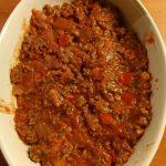 Aardappelgratin a la bolognaise