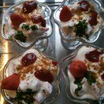 Aardbeien met joghurt dessert