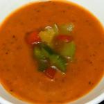 Paprika-courgette soep