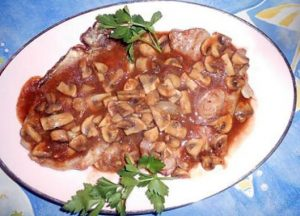 Karbonade met Madera-saus