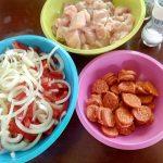 Kip met chorizo en paprika