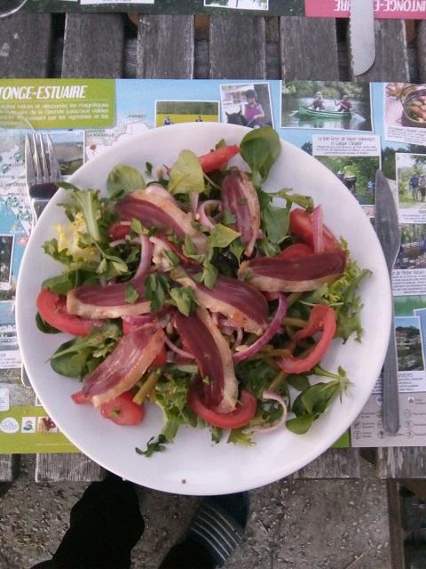 Salade met gerookte eendenborstfilet