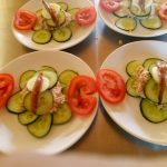 Komkommerrolletjes met carpaccio