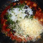 Paprika's gevuld met kip en rijst