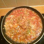 Gegratineerde macaroni met garnalen