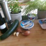 Mousse van courgette met garnalen