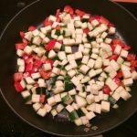 Japanse noedel met pittige garnalen en mascarpone