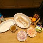 Kabeljauw met garnalen en kerriesaus