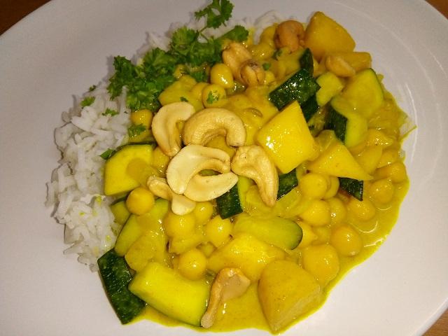 Mango-kikkererwtencurry