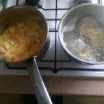 Tagliatelle met surimi