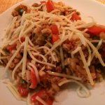 Geflambeerde langoustines met risotto