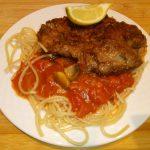 Pasta met ham, courgette, doperwten en indische kruiden