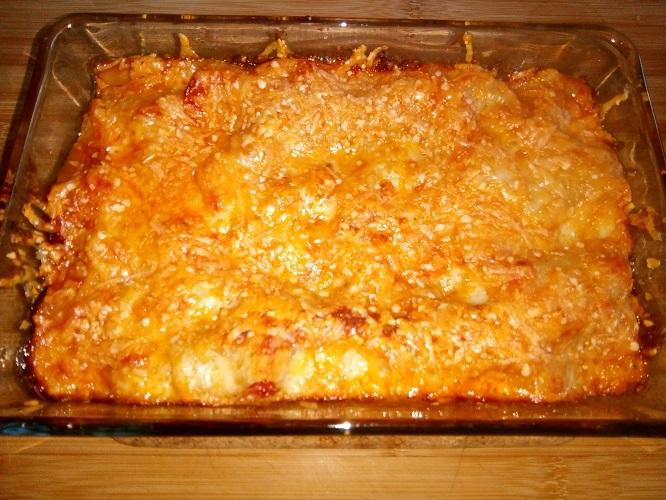 Lasagne van kip en champignons